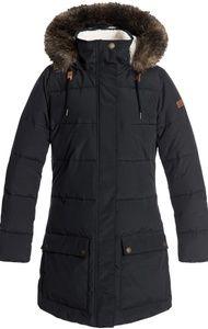 Roxy Water Repellent Hooded Longline Puffa Jacket